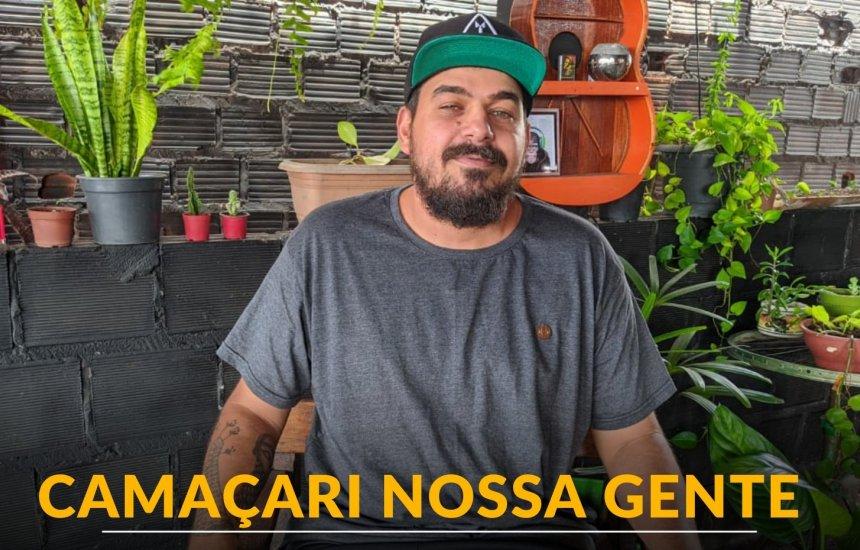 [Samuka Rios transformou a laje de casa em ponto cultural no Phoc II]