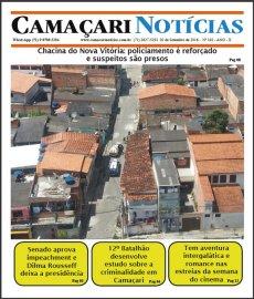 [Violência em Camaçari é destaque da edição 182 do jornal impresso Camaçari Notícias]