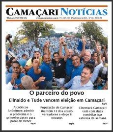 [Edição 184 do jornal impresso Camaçari Notícias traz o resultado da eleição municipal]