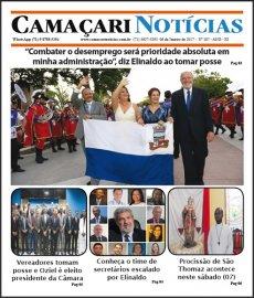 [Edição 187 do jornal impresso Camaçari Notícias destaca posse de Elinaldo]