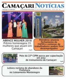 [Edição 201 do jornal impresso Camaçari Notícias destaca fechamento da FAFEN]