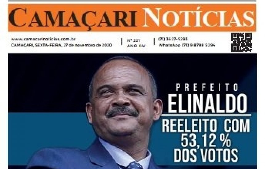 [Edição 221 do jornal impresso Camaçari Notícias faz um balanço das Eleições 2020]