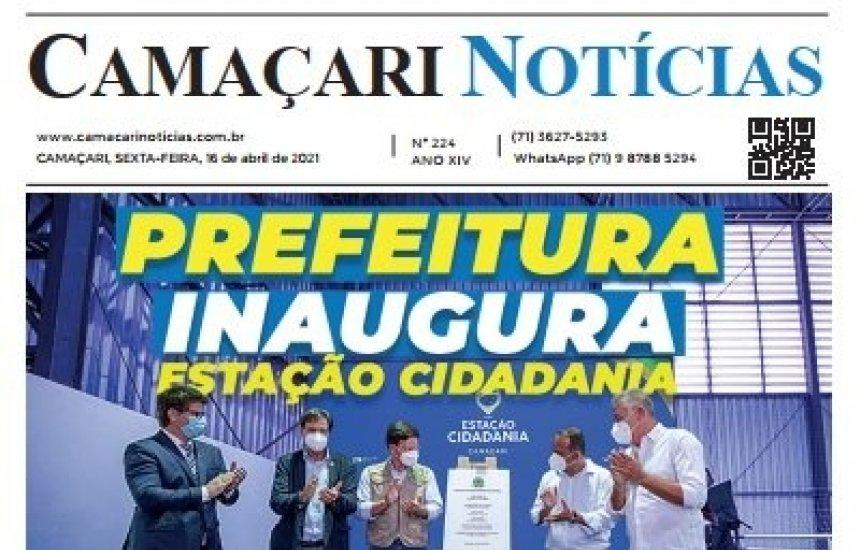 [Edição 224 do jornal impresso Camaçari Notícias destaca mortes por Covid-19]