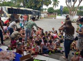 [75 crianças conhecem sede da Cipe Polo Industrial, em Camaçari]