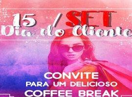 [As Lojas Cometa convida seus clientes para um delicioso Coffee Break]