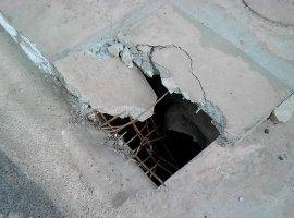 [Bueiros com tampa quebrada oferecem risco a moradores do Phoc I]