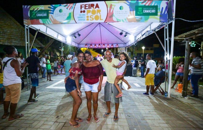 Feira do Pôr do Sol acontece em Arembepe e Guarajuba no fim de semana