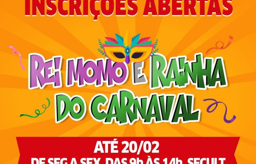 [Inscrições para concurso do Rei e Rainha do Carnaval de Lauro vão até dia 20]