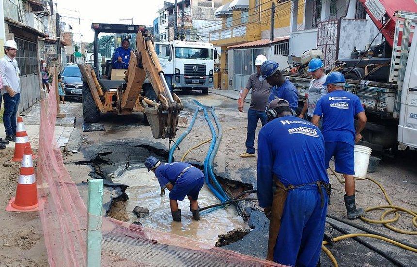 [Embasa interrompe fornecimento de água em 21 bairros de Salvador]