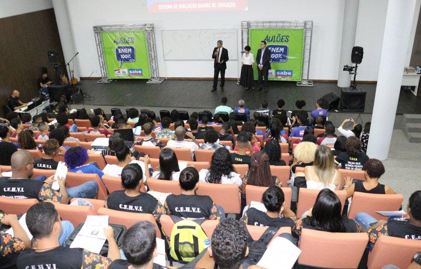 [Secretaria da Educação do Estado inicia novo ciclo do Aulões ENEM 100%]