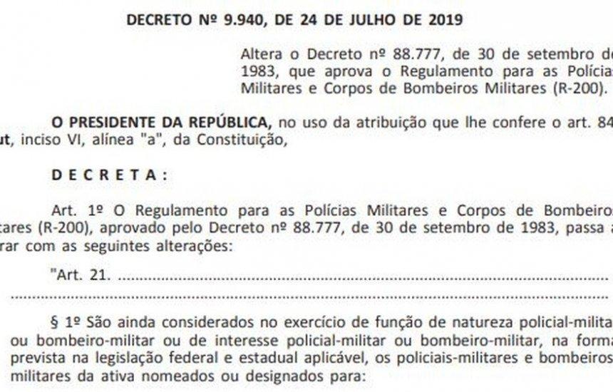 [Decreto de Bolsonaro autoriza que policiais atuem em escolas]