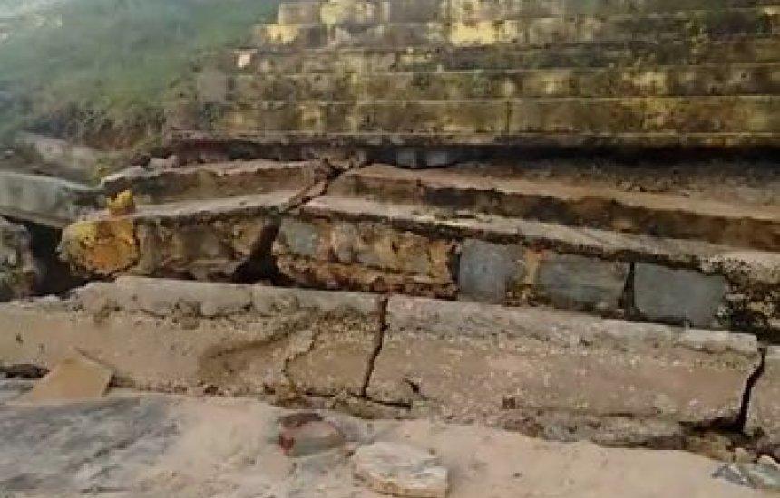 [Entre Rios: Avanço do mar provoca estragos em praia de Subaúma]