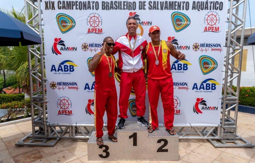 Bombeiro baiano ganha seis medalhas em Campeonato de Salvamento