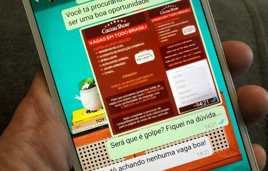 [Golpe do emprego falso no WhatsApp cresce 174% em 2019]
