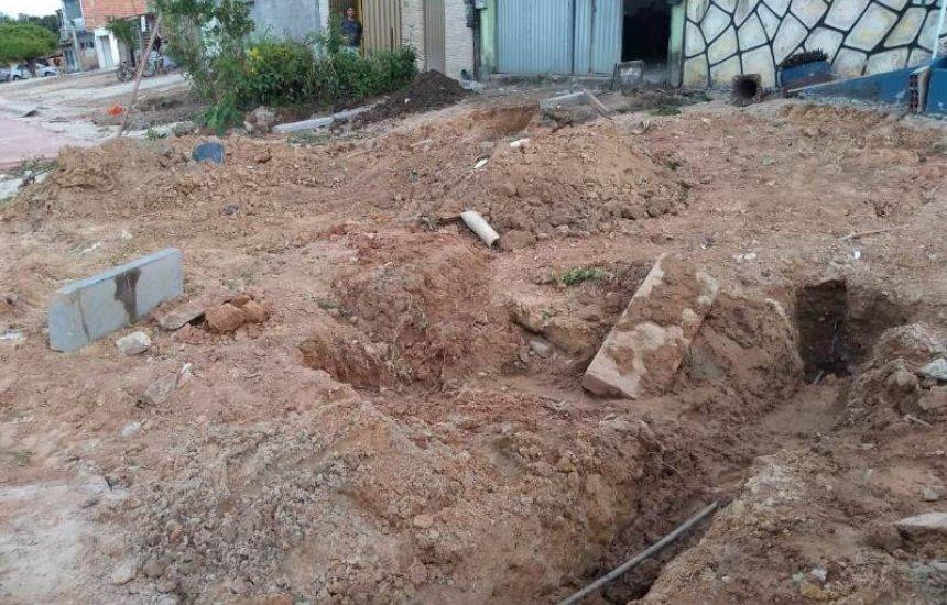 [Seu Bairro no CN: moradora reclama de obra de pavimentação na Lama Preta]