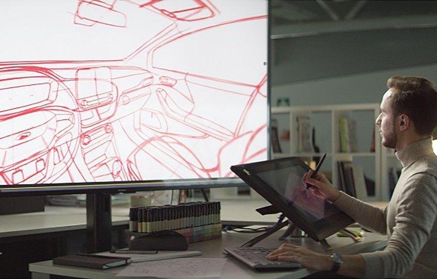[Ford inova o design do interior dos veículos com ferramenta de esboço]