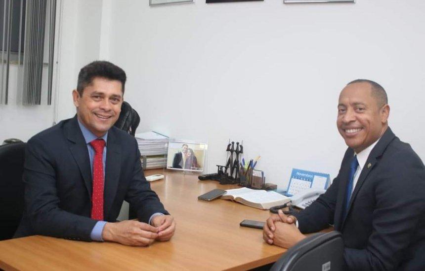Dep. Jurailton Santos apoia o ver. Luiz Carlos como vice-prefeito, na chapa de Bruno Reis