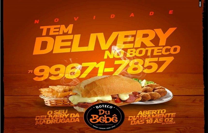 Novidade no Boteco du Bebê! Delivery a partir das 18h