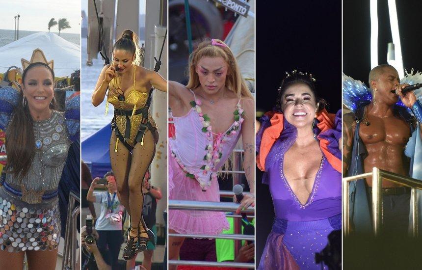 Ivete, Claudia, Daniela, Léo e Pabllo Vittar desfilam nesta segunda