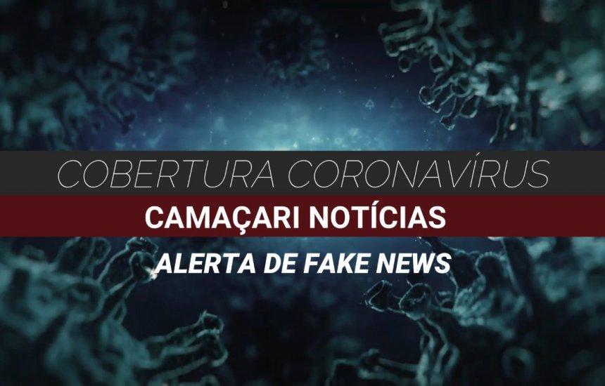 [Publicação na web de novo caso de Coronavírus em Camaçari é Fake News, diz Secretaria de Saúde]