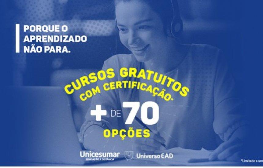 [Unicesumar disponibiliza mais de 70 cursos on-line gratuitos para o período de quarentena]