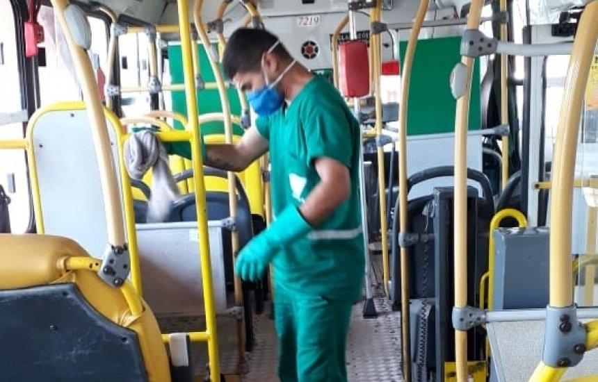 [Transportes das linhas metropolitanas passam por higienização para combate ao coronavírus]