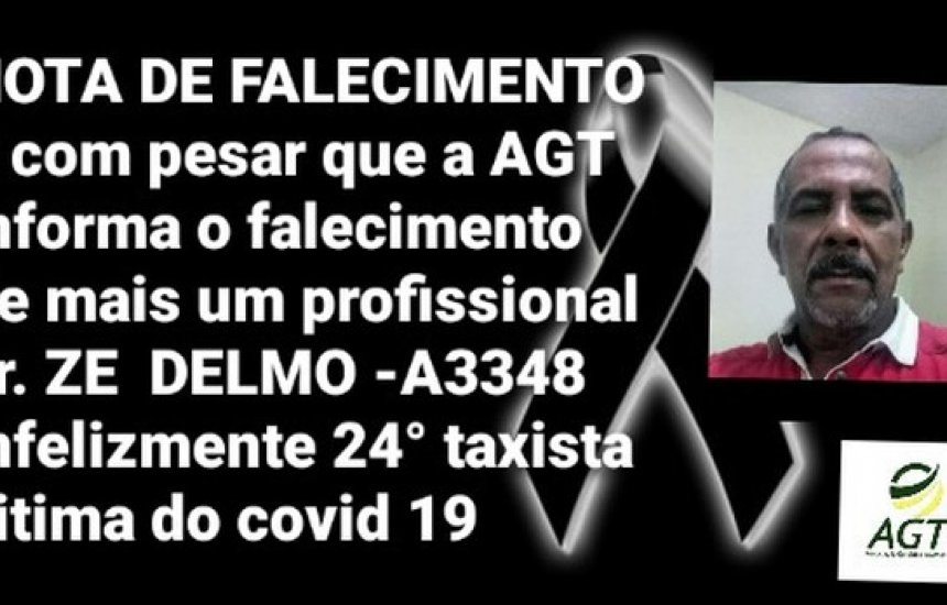 [Taxista morre de Covid-19 em Salvador; profissional é a 23ª vítima da categoria]