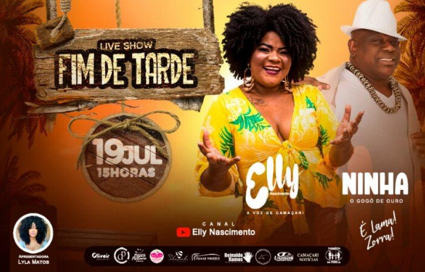 Elly Nascimento fará Live Show dia (19/07)