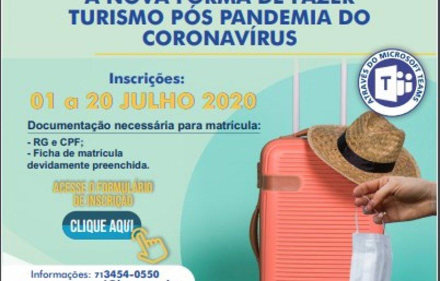 SENAC promove I Ciclo de Palestras: A Nova Forma de Fazer Turismo Pós Pandemia do Coronavírus