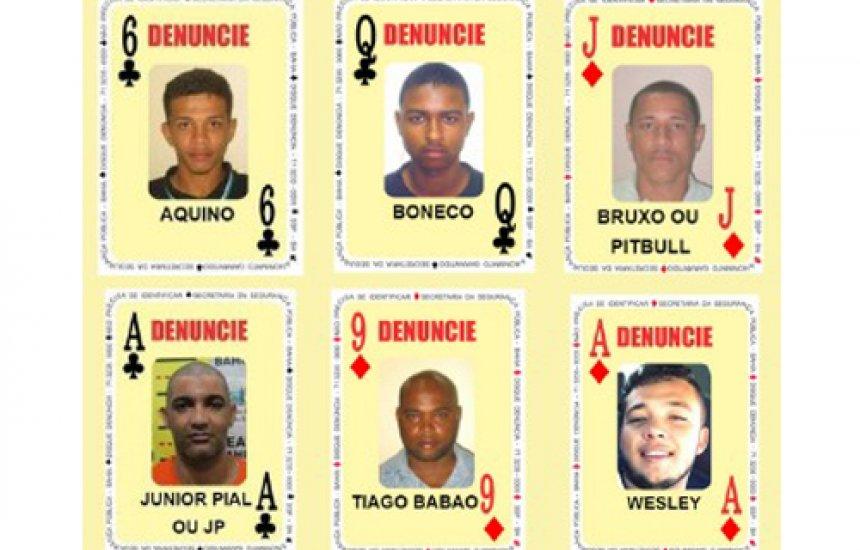 ['Baralho do Crime' da SSP tem seis novos foragidos da Justiça da Bahia]