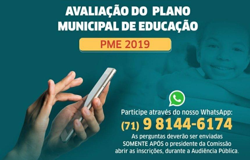 [Audiência Pública para avaliação do Plano Municipal de Educação é suspensa]