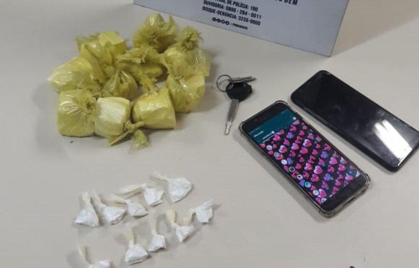 Homem é preso com 20 porções de cocaína no Verde Horizonte