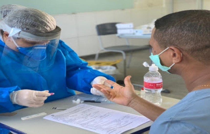 Testagem é realizada em funcionários e professores nas escolas estaduais de Itabuna e Ilhéus