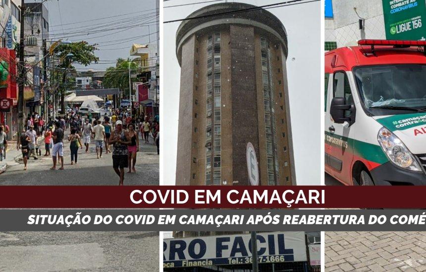 Covid 19: casos ativos tem queda mesmo com reabertura do comércio em Camaçari
