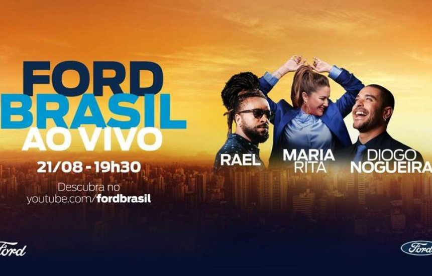 [É hoje: live da Ford com Maria Rita, Diogo Nogueira e Rael terá o sorteio de um Territory]