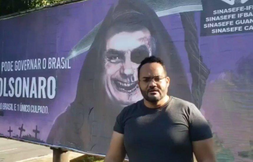 [Advogado danifica outdoor que protestava contra Bolsonaro na capital baiana e poderá ter candidatura cassada]