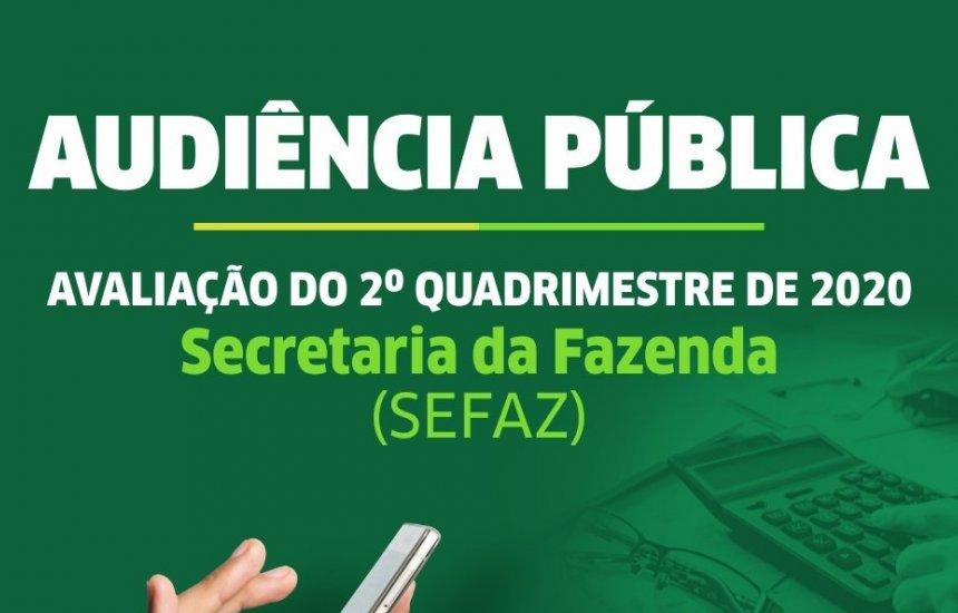 [Avaliação das Metas Fiscais do 2º quadrimestre de 2020 acontece em Audiência Pública na quarta (30)]