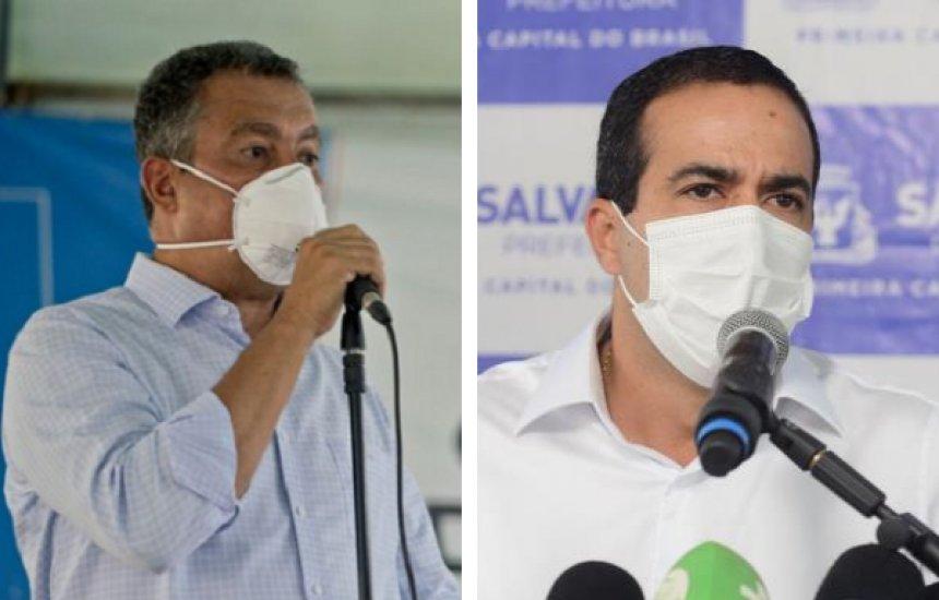 [Medidas mais restritivas válidas para Salvador e Região Metropolitana serão anunciadas por Rui Costa e Bruno Reis]